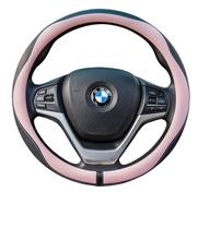 New styling elastic eco friendly leather sewing car steering wheel cover