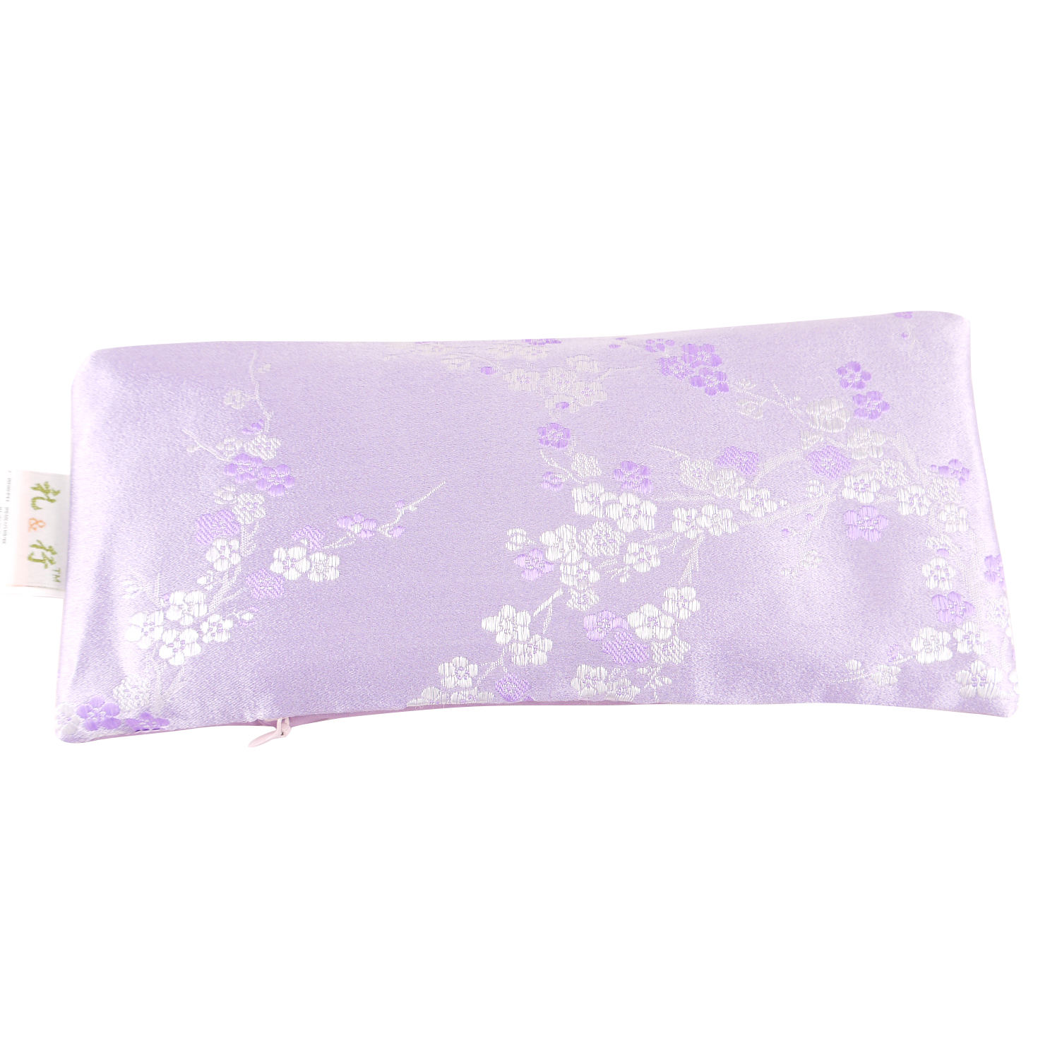 Lavender Stuffed Silk Eye Pillow filled with Flaxseeds