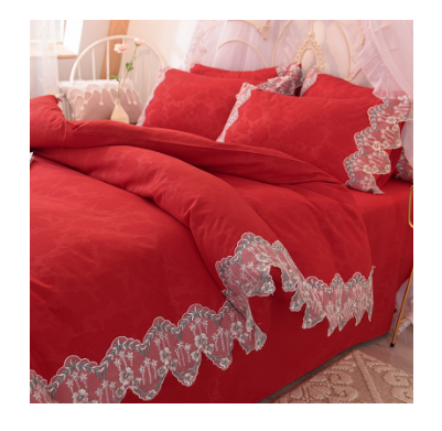 King Size Bed Sheet Set, Red Bed Sheet Set Bedding/cotton bed cover red