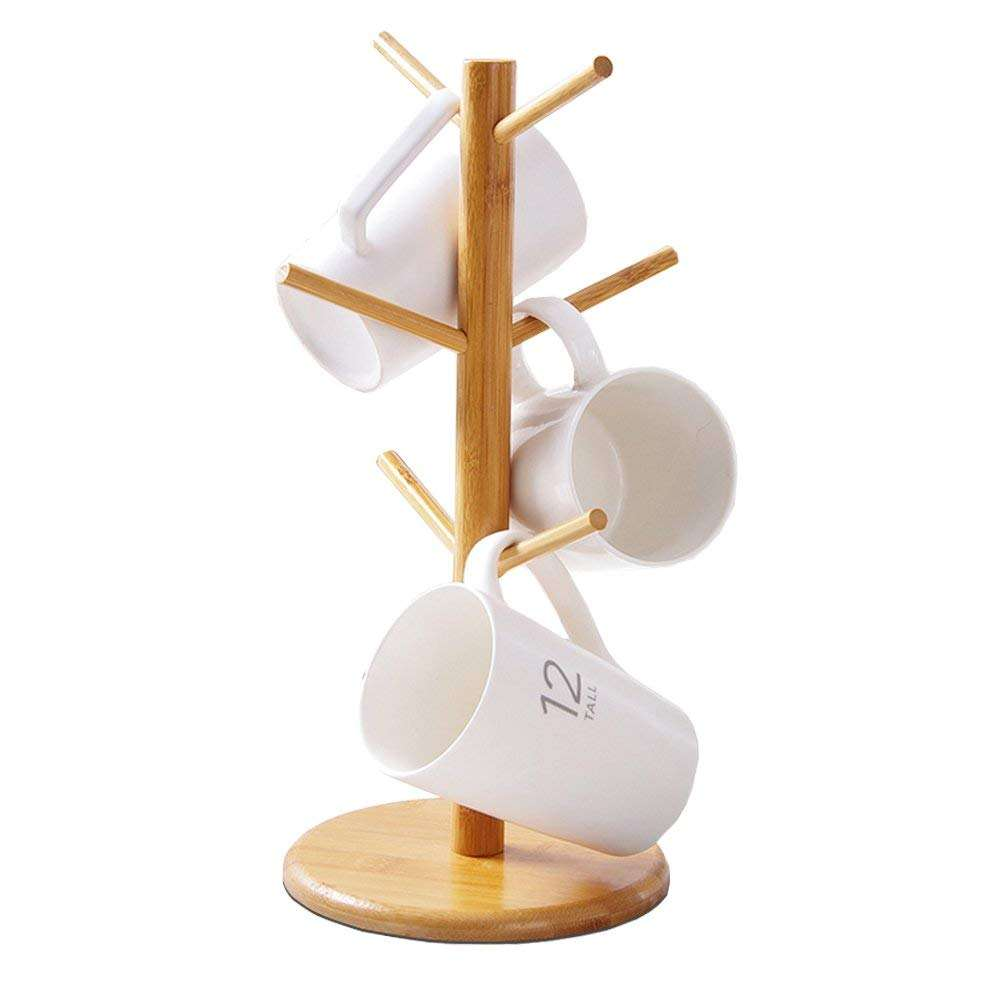 Bamboo Branches Tree Cup Stand Mug Coffee Cup Holders Rack Creative Jewelry Holder Storage Racks