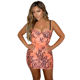 2019 Newest Ladies Mini Spaghetti Strap Sex Night Pink Coral Lace Bodycon Bandage Dress Vestido del vendaje F1818