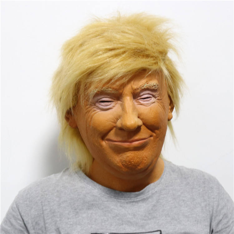 In Stock 2020 Donald Halloween Realistic Masks Trump Latex Mask For Election