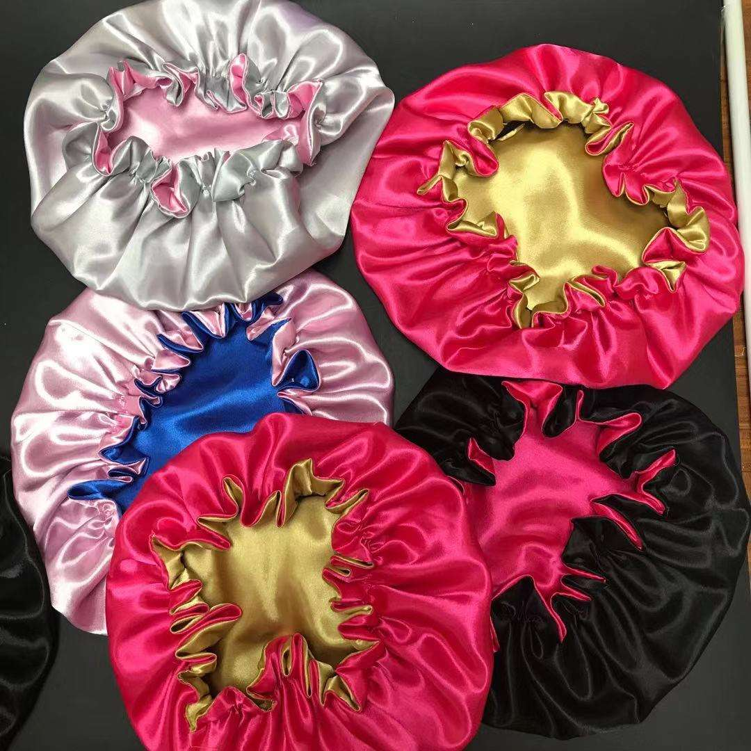 New Large Size Satin Lined Double Layer Ankara Bonnet