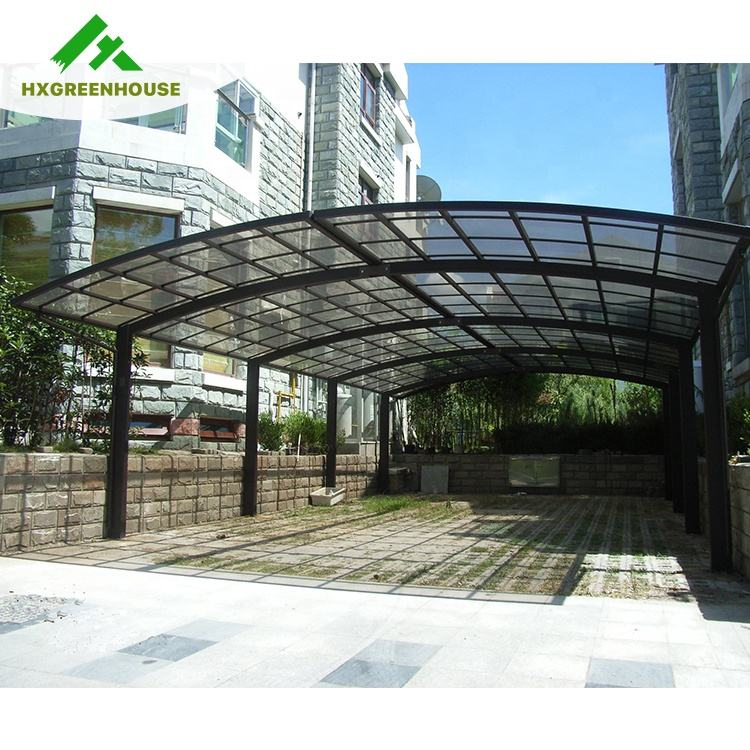 Luxury solid polycarbonate dome frame rain cover japanese replacement parts used metal carports sale carport canopy