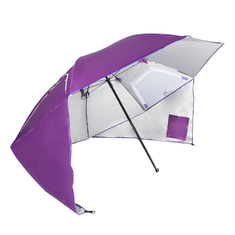 High Quality Big Large Outdoor Multi-functional Custom Windproof Rain Sunshade Beach Shape Carp Tent Fishing Umbrella