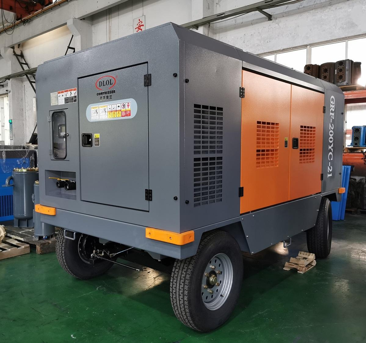 185cfm portable diesel air compressor