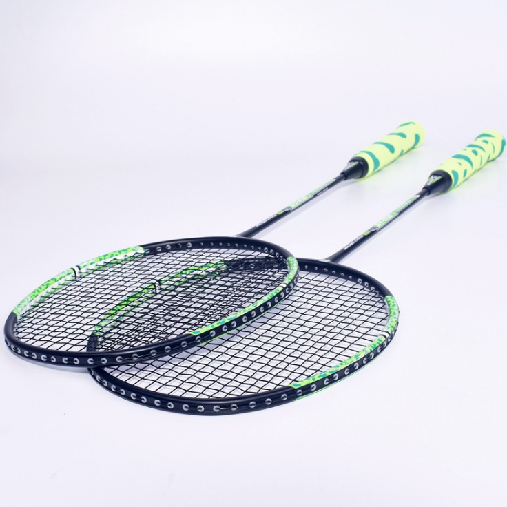 Wholesale customized high quality training level glass carbon mixed fiber badminton racket