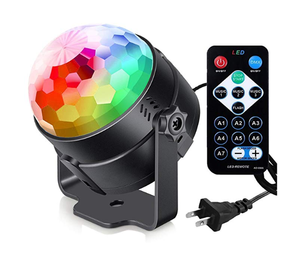 Hot Sale Disko Pesta Panggung Lampu LED RGB Crystal Magic Ball Light LED dengan Remote Control Kontrol Suara