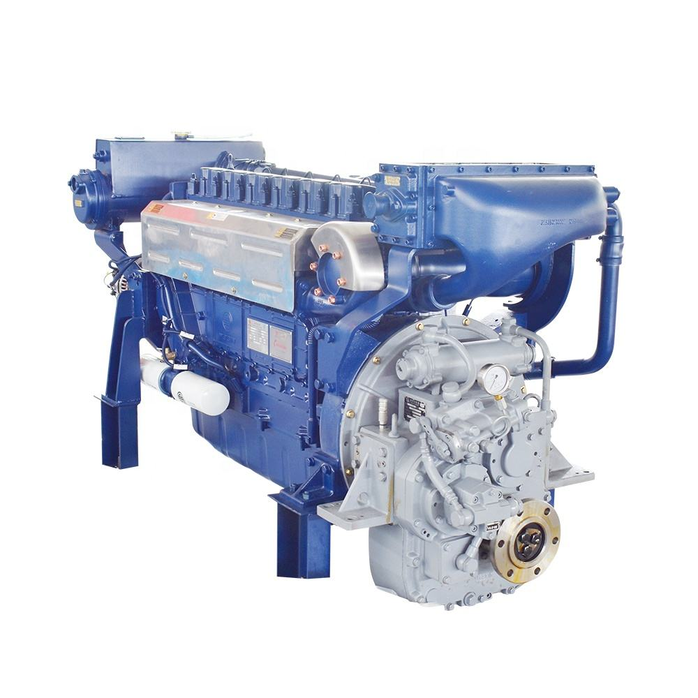 Heavy type weichai 440kw 600hp marine diesel engines with 400 gear box