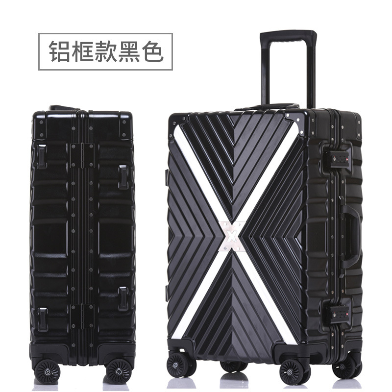 New 20 'aluminum lined PC suitcase for business men and women checked luggage to luggage travel load rotator shoes transfer