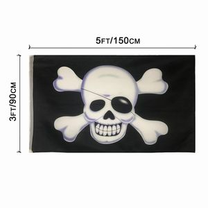 3x5 Customized Logo Outdoor Flag large Pirate Flag