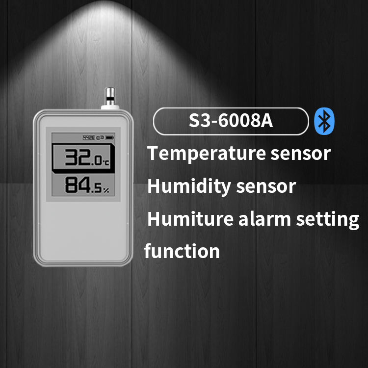 External Probe Data Logger Ble 5.0 Temp Ibeacon Sensor Bluetooth周囲Temperature And Humidity Beacon With Display