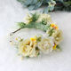 Big rose daisy party wedding floral hair accessories crown for girls