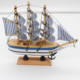 Nautical Wooden Sailing Boat Ship Wood Crafts Handmade Retro Ship Mode