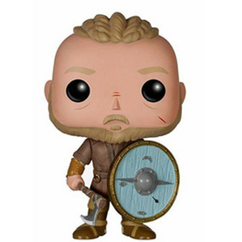 Funko Pop Vikings Action Figure 177 Ragnar Lothbrok 178 Lagertha Model Toys 10cm