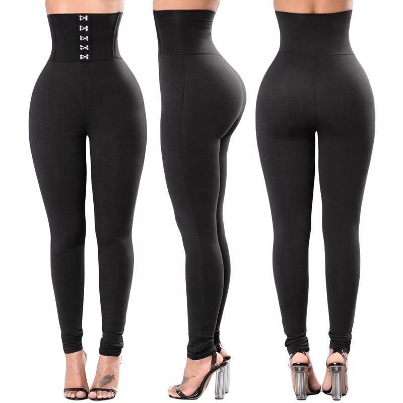New Custom Black Grommet Lace Up Naked Fitness High Waist Workout Yoga Pants Hosiery Leggings For Women