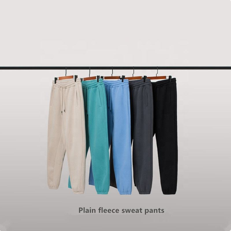 Plain wholesale black set jogger sweat pants and hoodies street wear vintage women trousers men sweat pants joggers mens unisex