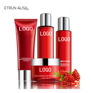 Alami Korea Kulit + Care + Set Red Pomegranate Essence Whitening Pelembab Siput Serum Ekstrak Skin Care Set Private Label