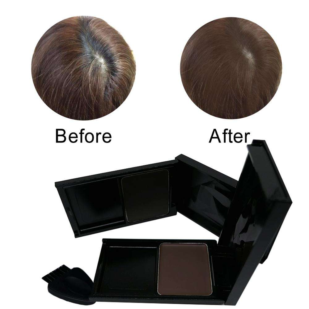 Temporary hair root cover up powder Gray hair touch up Foundation for Hairline Shadow