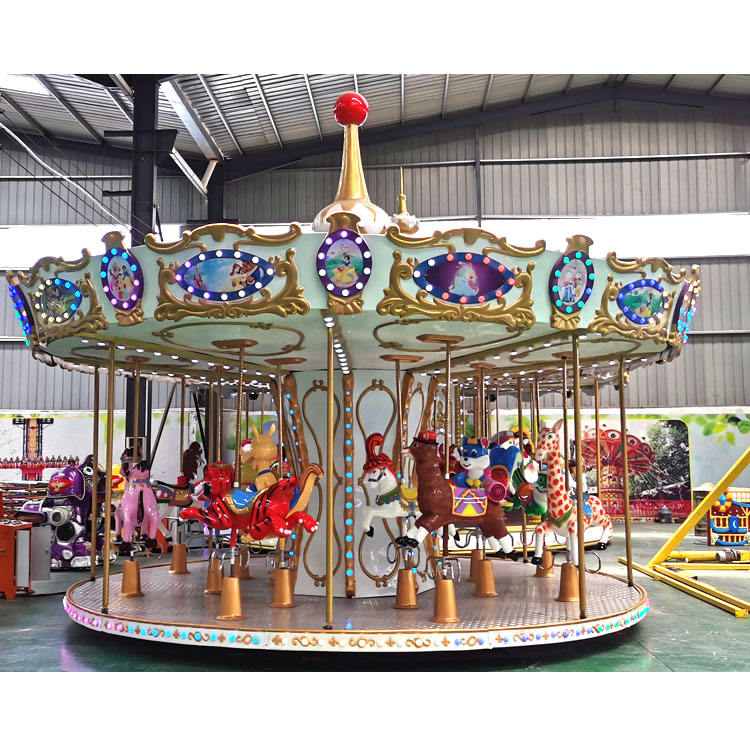 16 Seats Animal Carrousel Manege Amusement Park Attractions Equipment Rides Carousel Horses For Sale