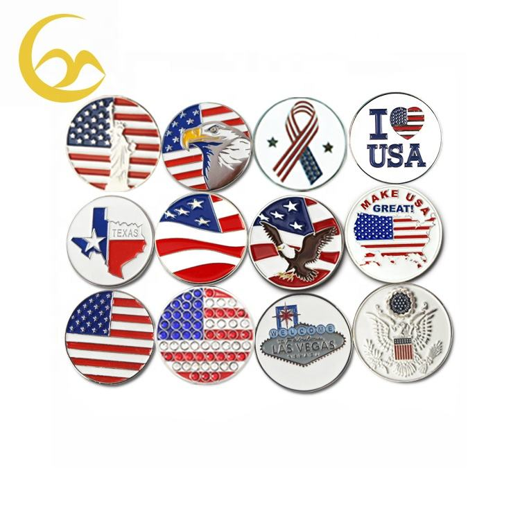 Wholesale Magnetic Ball marker Golf Accessories Golf Ball Marker