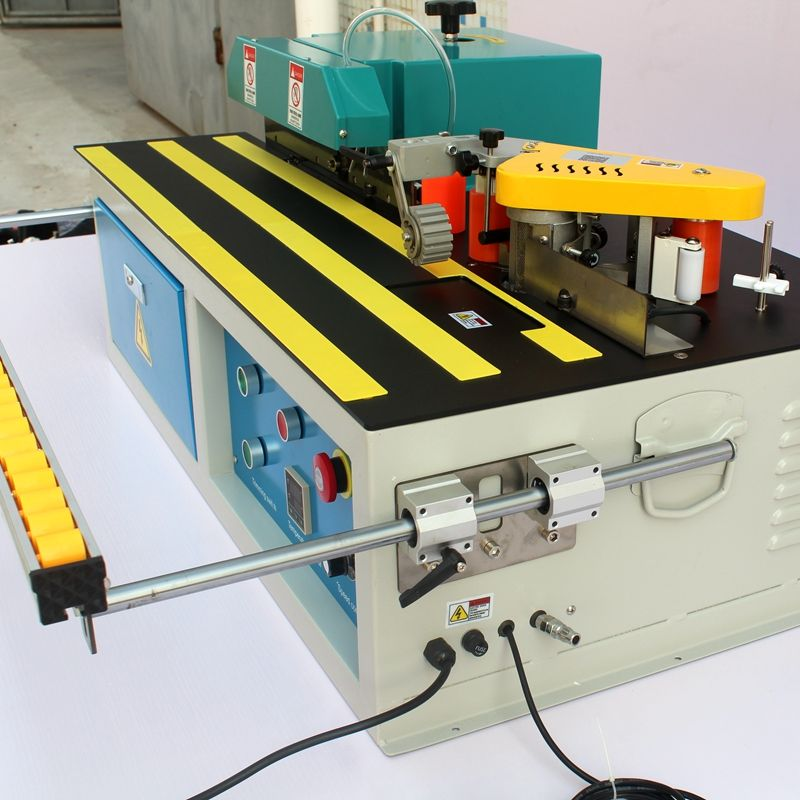 Furniture table top trimming edge hot pressing woodworking edge trimming machine