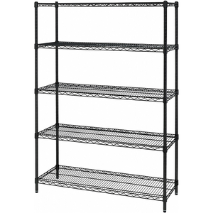 ASSMILE 5Tier Layer Shelf Adjustable Wire Metal Shelving Sliding office wire racking Industrial storage wire shelving
