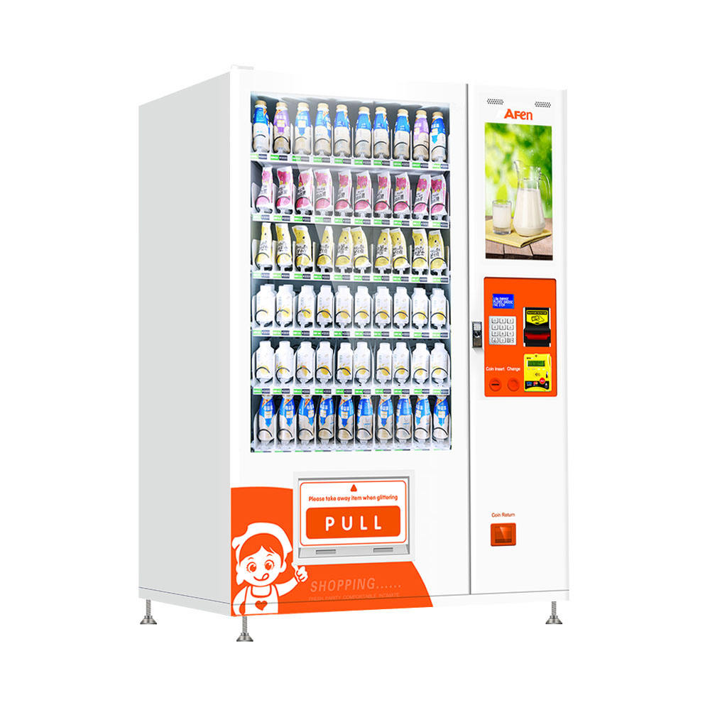 AFEN China intelligent elevator milk tea raw milk vending machine for sale China
