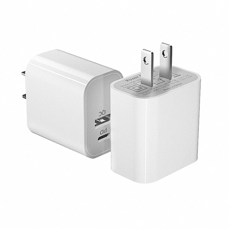 Dual Ports 18ワットPD Type c Usb Travel Charger Wall Mobile Phone Charger 18ワットpdセットFor Iphone 12