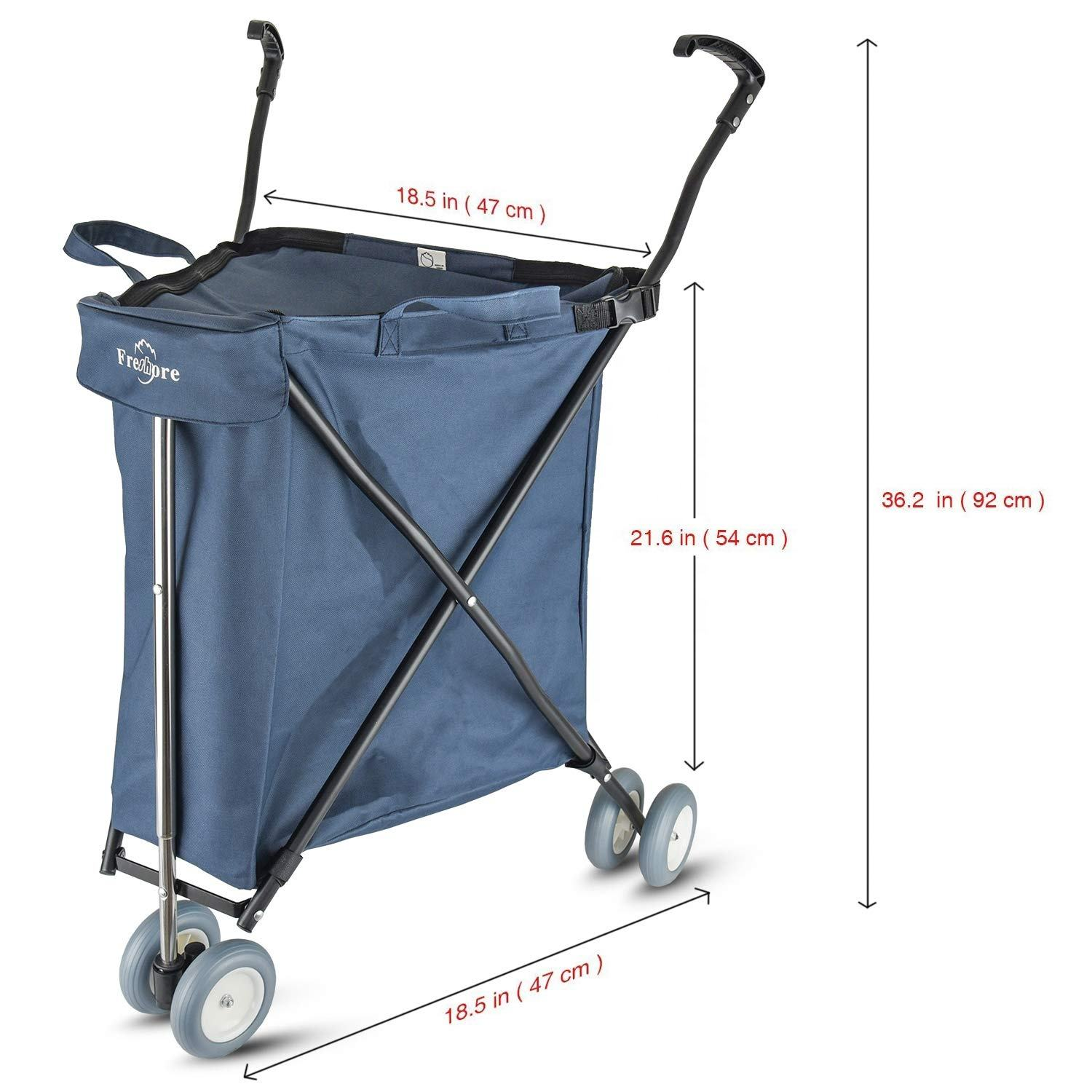 High Quality Promotional Shopping Trolley Printing Recyclable Grocery Shopping Carts
