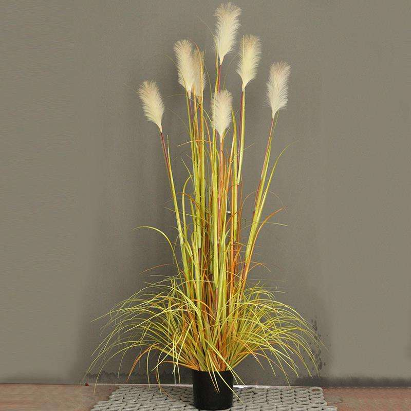 ZHUOOU Hot Sell Silk Grass Plants Bonsai Artificial Reed Grass For Home Decoration