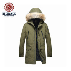 Hot Seller Men's Fur Coat Winter Outdoor Jacket Detachable Faux Fur Parka