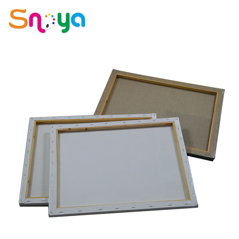 Economy Cotton Art Material Stretched Canvas with Wood for Canvas Art Wall