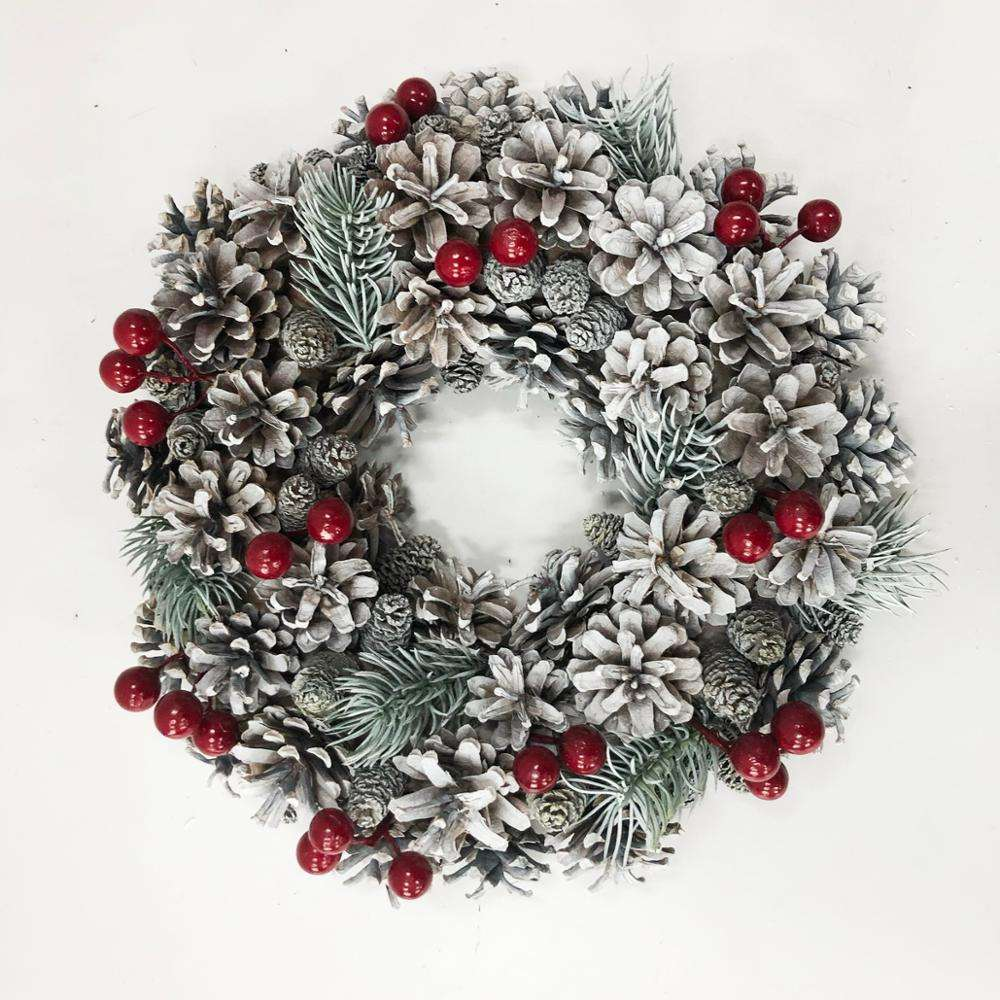 White Pine cone Christmas Wreaths for Front Door