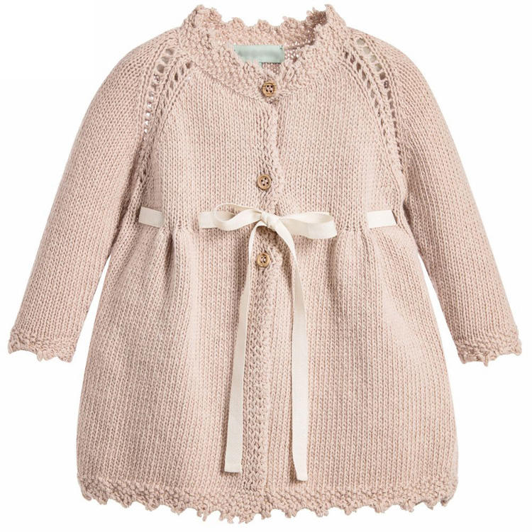 Factory OEM Cotton Knitted Girls baby claccis Cardigan