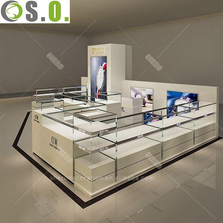 SHERO Personalized Design Shopping Mall Retail Store Display Watch Kiosk Manufacture