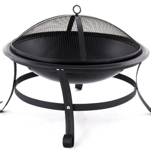 Trade assurance portable outdoor backyard/garden fire pit manufacturers round with mesh cover