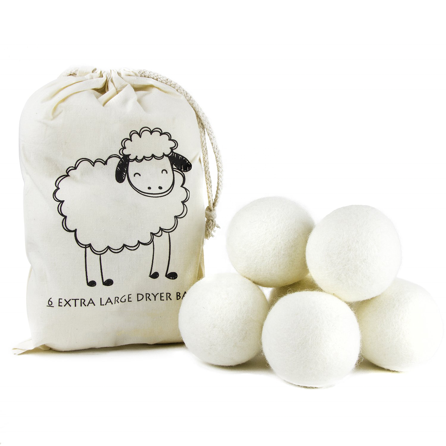 6-Pack XL 100% New Zealand Wool Dryer Balls with FBA DDP service