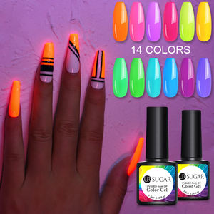 UR SUGAR 7.5ml Fluorescent Soak Off Nail Gel Neon UV LED Nail Art Gel Polish