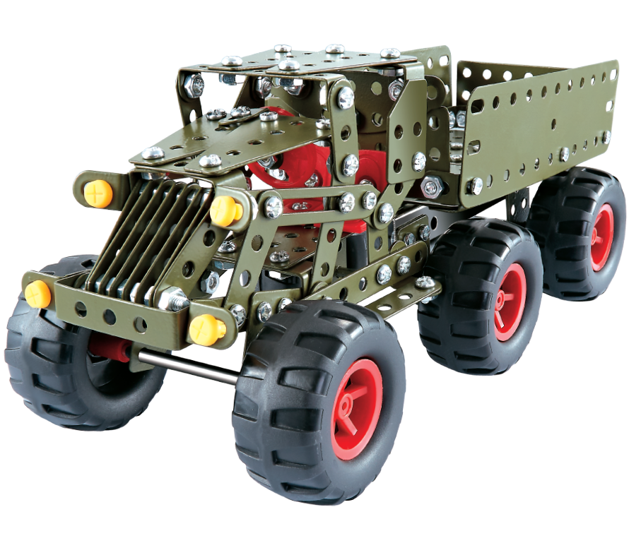 HY05149 Metal building block toys army car diecast car model alloy army car new toy 2020