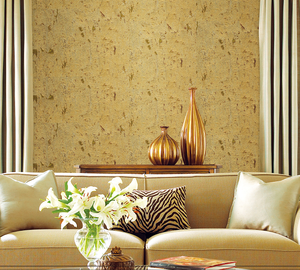 Luxury design natural printed cork wallpaper roll for house decor