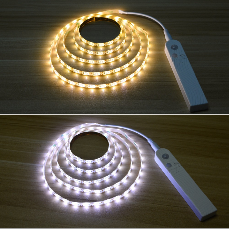 Motion Activated LED Bed Light Strip DC5V SMD3528 Battery Operated with PIR motion sensor