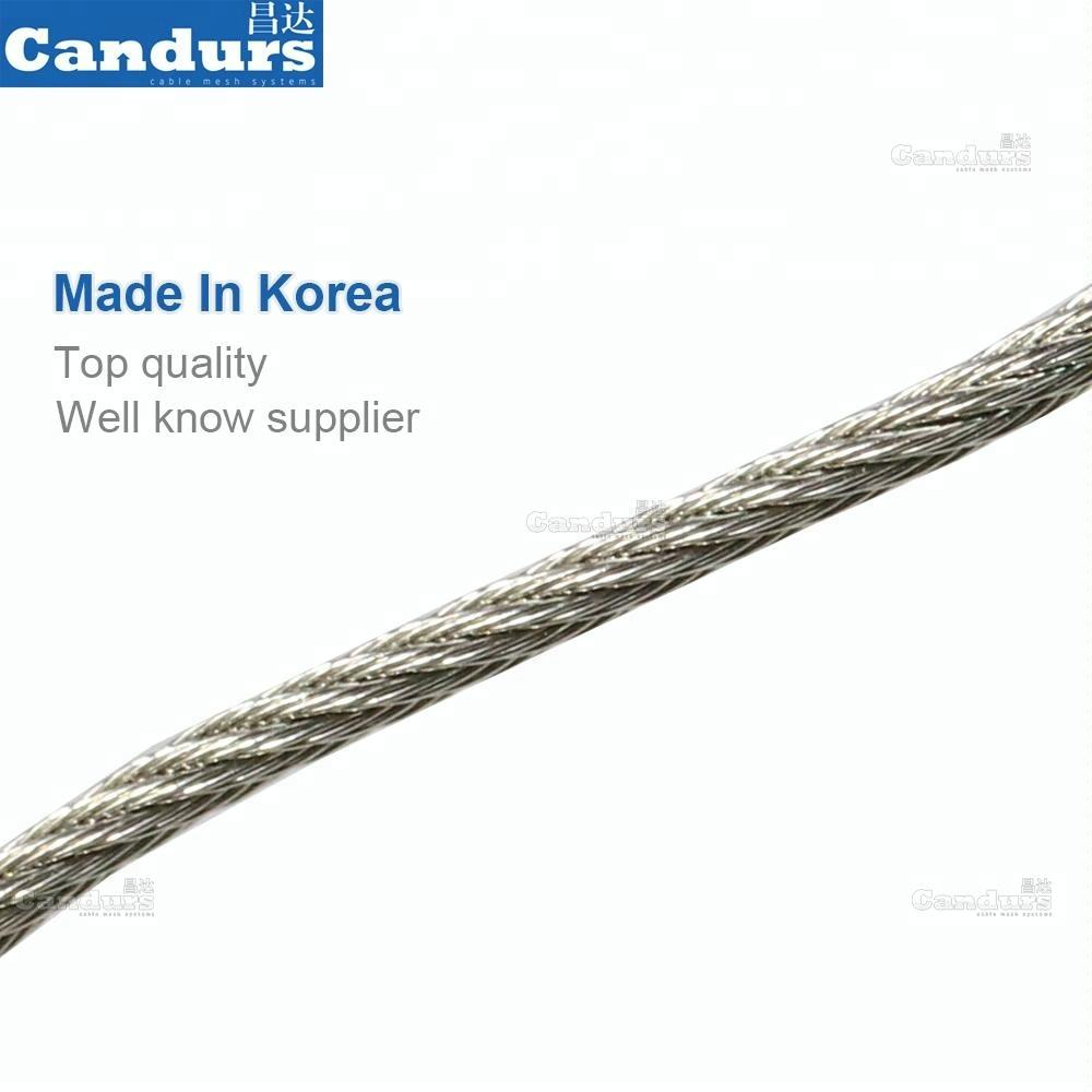 316 Ferrule Type Flexible X Tend Cable Stainless Steel Wire Rope Diamond Architectural Mesh