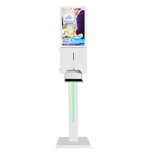 Advertising digital signage 21.5inch LCD screen display with Automatic hand sanitizer dispenser kiosk