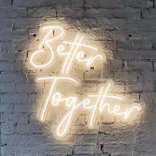 Romantic Flex LED Custom Made Neon Sign for Wedding Home Event Decor Backdrop or Gift