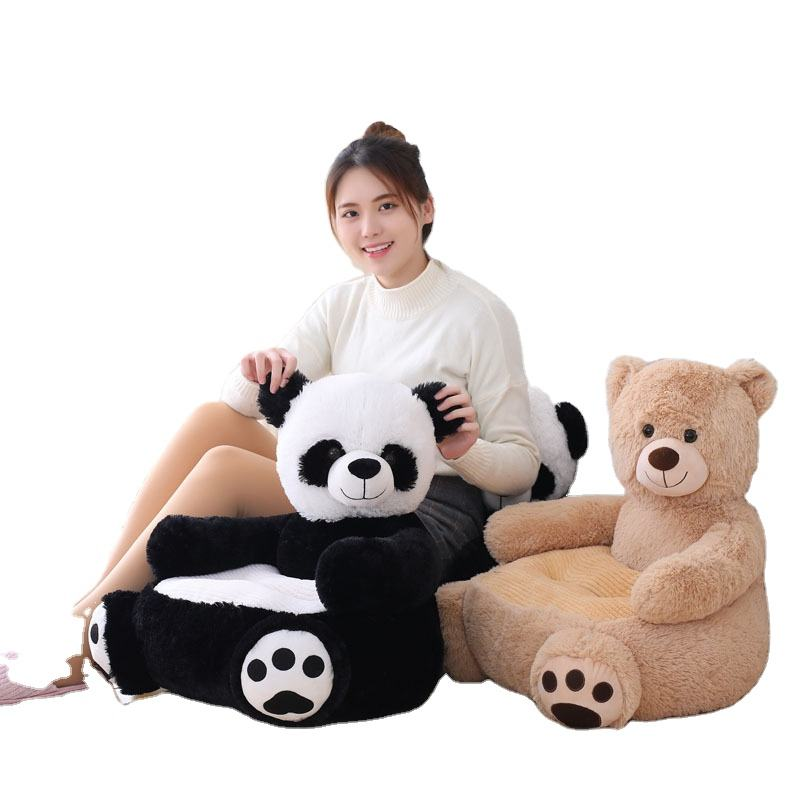 AliGan Plush children's sofa Toy bear Baby panda seat doll Unicorn cushion sofa chair PV velvet PP cotton