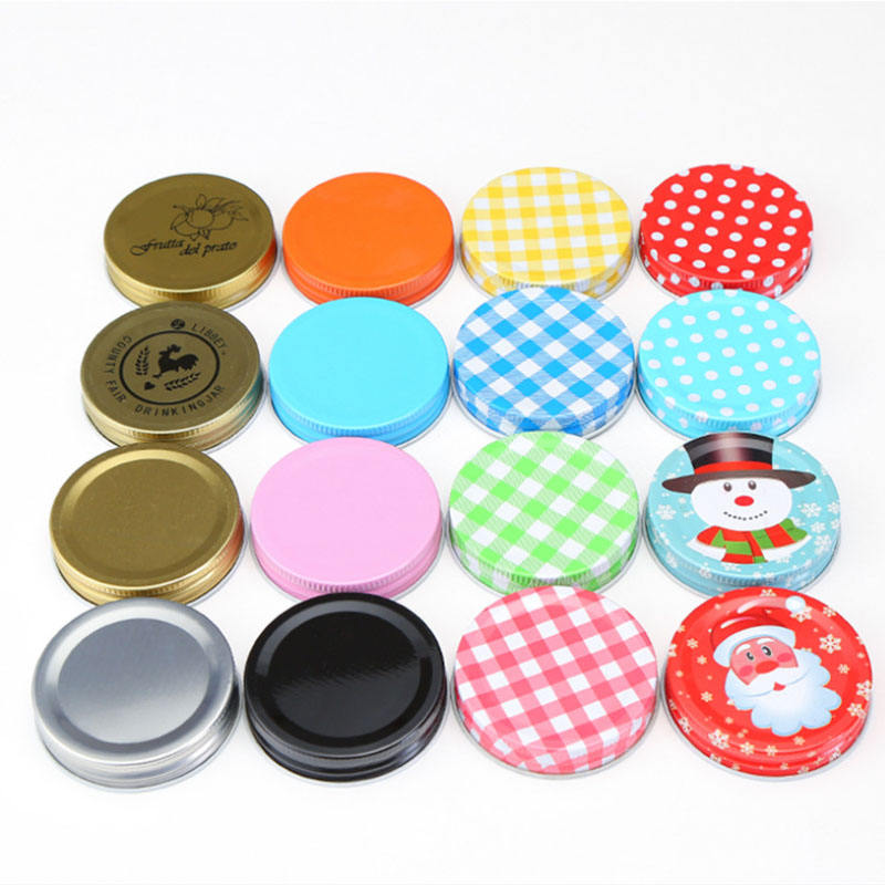 Wholesale Custom Red Color Glass Bottle Tin Lid for Jar Small Metal Tin Cap
