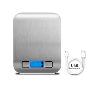 Precise USB Recharge High Quality Battery 5Kg 11LB 0.1g small scale kitchen scale digital food scale