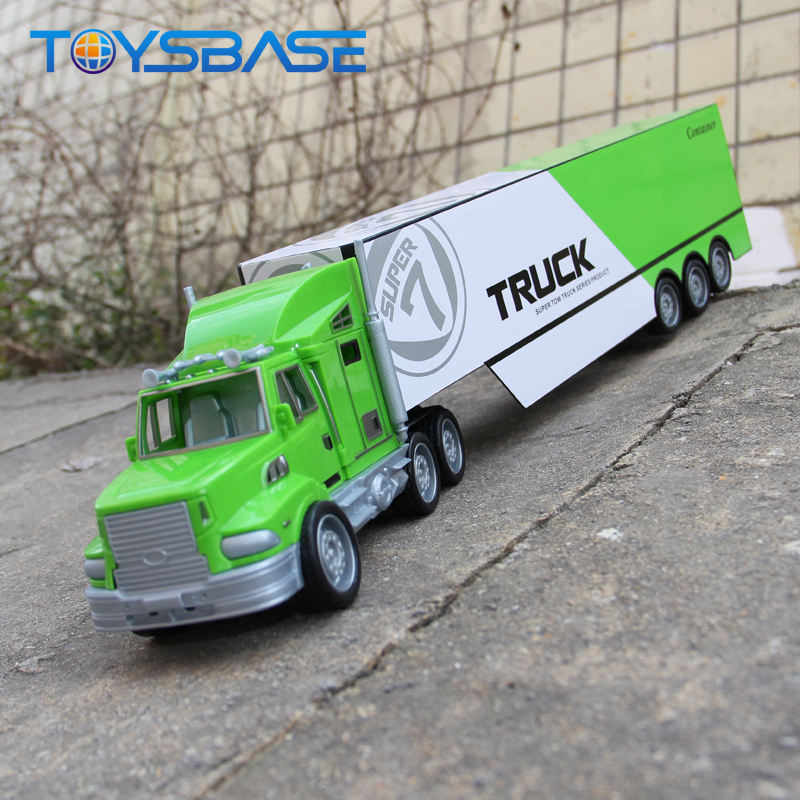 Container Truck Toy Custom Logo Plastic Friction Model Toy Container Truck