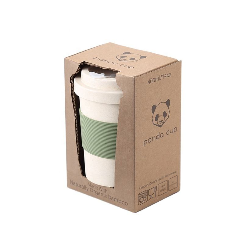 Innovative Reusable Bamboo Fiber Coffee Cup with Silicone Rubber